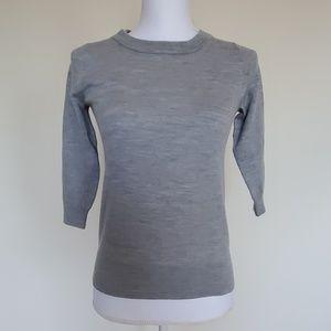 J. Crew grey 3/4 sweater